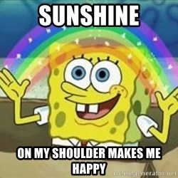 Bob esponja imaginacion - sunshine on my shoulder makes me happy
