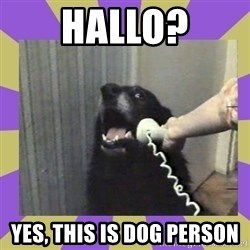 Yes, this is dog! - hallo? yes, this is dog person