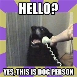 Yes, this is dog! - hello? yes, this is dog person