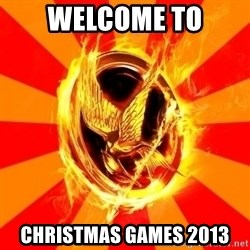 Typical fan of the hunger games - Welcome to christmas games 2013