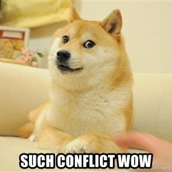 Original Doge -  such conflict wow