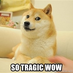 Original Doge -  so tragic wow