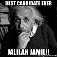 einstein bhai - BEST CANDIDATE EVER jalilah jamil!!