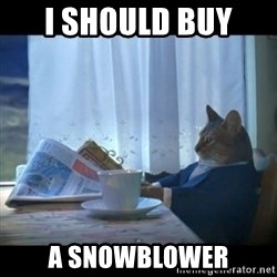 I should buy a boat - I should buy  a snowblower