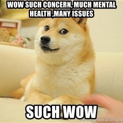so doge - Wow Such concern, much mental health ,Many issues such wow