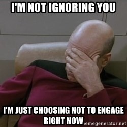 Picardfacepalm - I'm not ignoring you I'm just choosing not to engage right now
