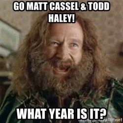 What Year - Go Matt Cassel & Todd Haley! WHat year is it?