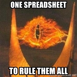 Eye of Sauron - one spreadsheet to rule them all
