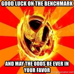 Typical fan of the hunger games - Good luck on the benchmark and may the odds be ever in your favor