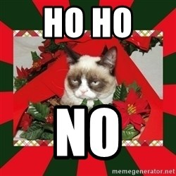 GRUMPY CAT ON CHRISTMAS - Ho HO  No