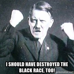 Successful Hitler -  i should have destroyed the black race, too!