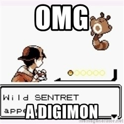 a wild pokemon appeared - omg a digimon