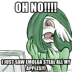 Pokemon Reaction - OH NO!!!! I just saw Emolga steal all my apples!!!