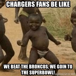 Little Black Kid - chargers fans be like we beat the broncos, we goin to the superbowl!
