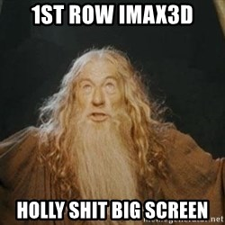 You shall not pass - 1ST ROW IMAX3D holly shit big screen