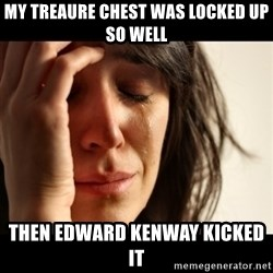 crying girl sad - My treaure chest was locked up so well then edward kenway kicked it