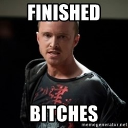 Jesse Pinkman says Bitch - finished bitches