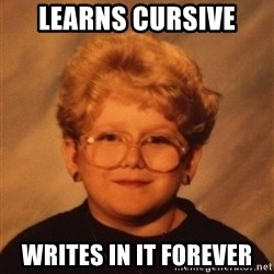 60 Year-Old Girl - LearnS CURSIVE WRITES IN IT FOREVER