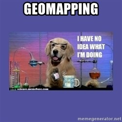 I don't know what i'm doing! dog - geomapping