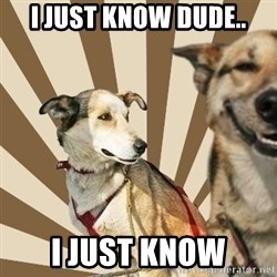 Stoner dogs concerned friend - i just know dude.. i just know