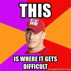 Hypocritical John Cena - THIS IS WHEre IT GETS DIFFICULT