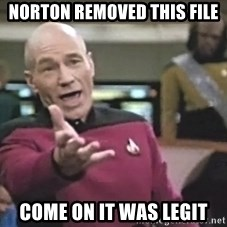 Captain Picard - Norton Removed this file Come on it was legit