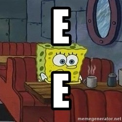 Coffee shop spongebob - e e