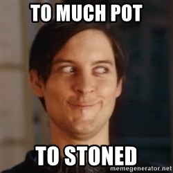 Peter Parker Spider Man - to much pot to stoned