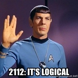 Blessing of spock be with you -   2112: It's Logical