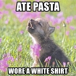 Baby Insanity Wolf - ate pasta wore a white shirt