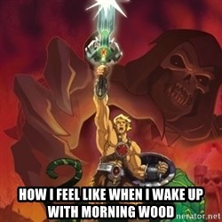 he-man power -  HOW I FEEL LIKE WHEN I WAKE UP WITH MORNING WOOD