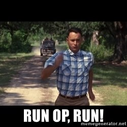run forest -  Run op, run!