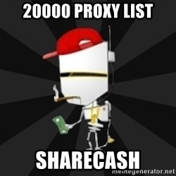 TheBotNet Mascot - 20000 proxy list sharecash