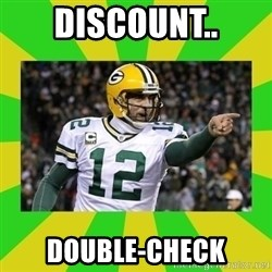 Aaron Rodgers - DISCOUNT.. DOUBLE-CHECK