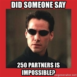 Neo Matrix - did someone say 250 partners is impossible?