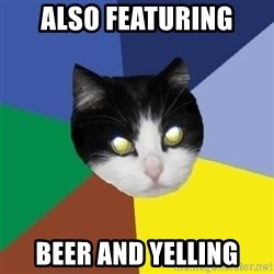 Winnipeg Cat - also featuring beer and yelling