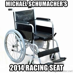 wheelchair watchout - michael schumacher's 2014 racing seat
