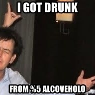 Drunk Charlie Sheen - I got drunk from %5 Alcoveholo