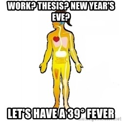 Scumbag Human Body - Work? Thesis? New Year's eve? let's have a 39° fever