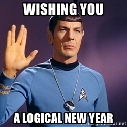 Blessing of spock be with you - Wishing YOu A logical New year
