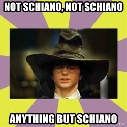 Harry Potter Sorting Hat - Not schiano, not schiano anything but schiano