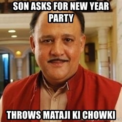 Alok Nath1 - son asks for new year party throws mataji ki chowki