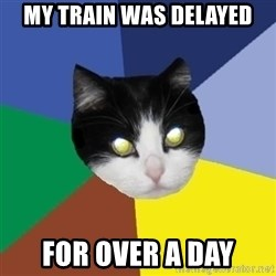 Winnipeg Cat - my train was delayed for over a day