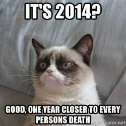 Grumpy cat good - it's 2014? Good, one year closer to every persons death