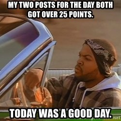 No John Cena on Raw... Today was a good day - My two posts for the day both got over 25 points. Today was a good day.