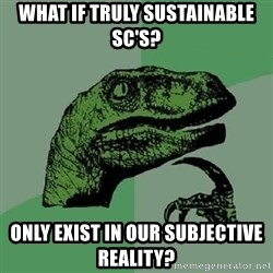 Philosoraptor - What if truly sustainable SC's? Only exist in our subjective reality?