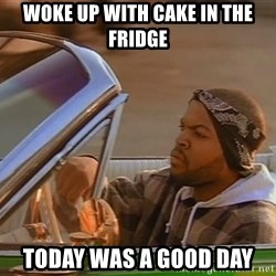 No John Cena on Raw... Today was a good day - Woke up with Cake in the fridge Today WAS A gOOD DAY