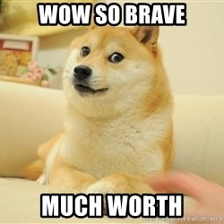 so doge - WOW SO BRAVE MUCH WORTH