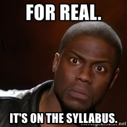 kevin hart nigga - For real. it's on the syllabus.