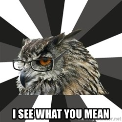 ITCS Owl -  I see what you mean